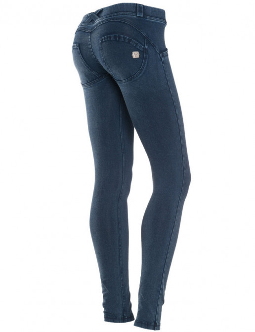 Freddy jeans tmavě modré, modrý šev, skinny střih