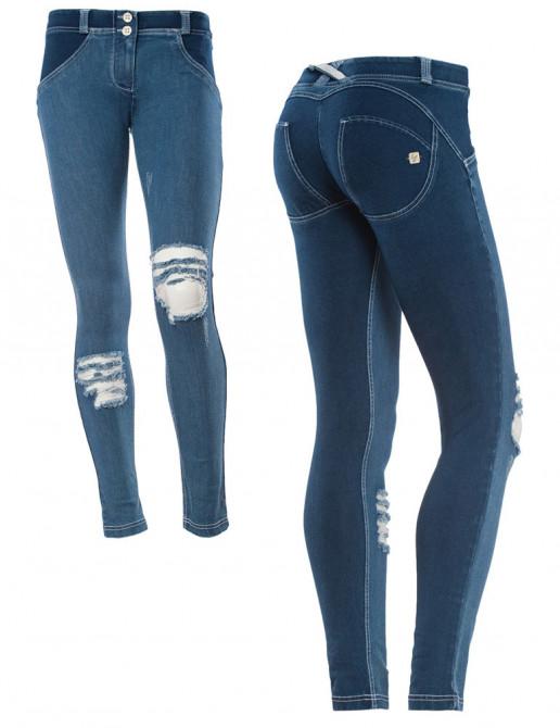 Freddy jeans modré, potrhaný styl
